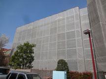 2号棟外壁塗装中
